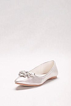 Crystal Cluster Pointed Toe Flats LIAM11X