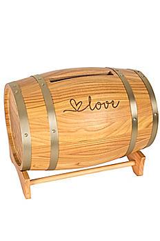 Love Wine Barrel Reception Card Holder LOV-3940
