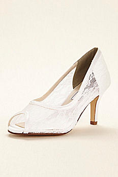 Dyeable Lace Satin Pump by Touch Ups Lupe