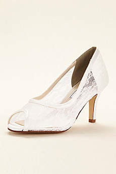 Touch Ups White Pumps (Dyeable Lace Satin Pump by Touch Ups)