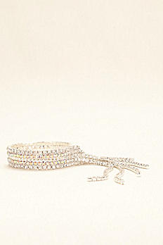 Fringe Crystal and AB Stone Bracelet MBR15126