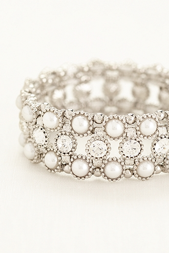 Pearl and Crystal Bracelet MBR2133