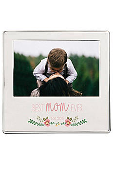 Personalized Best Mom Ever Silver Picture Frame MD-2315-7