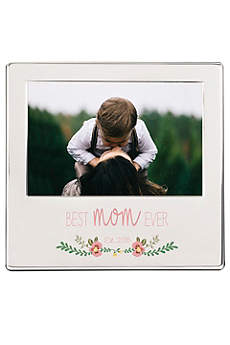 Personalized Best Mom Ever Silver Picture Frame