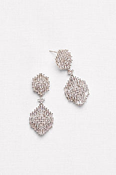 Baguette Cluster Chandelier Earrings ME27305