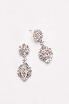 Baguette Cluster Chandelier Earrings