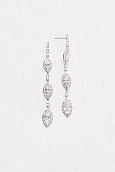 Linear Marquise-Cut Drop  Earrings ME28921