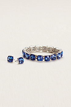 Stretch Bracelet and Stud Earring Set ME8074S