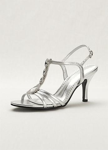 T-Strap High Heel Sandal with Jewel Detail MEG