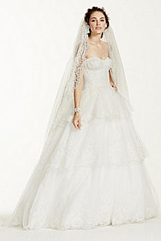 Jewel Strapless Tulle and Organza Wedding Dress MK3725