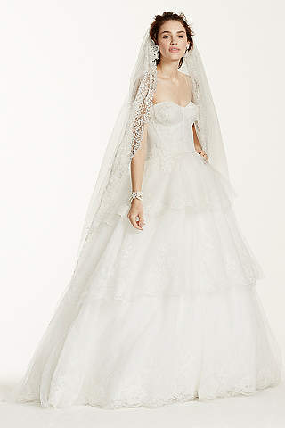 As Is Strapless Tulle And Organza Wedding Dress