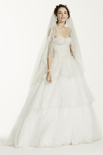 Strapless Tulle and Organza Ball Gown MK3725