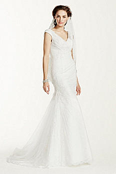 Jewel Off The Shoulder Ruched Wedding Dress MK3733