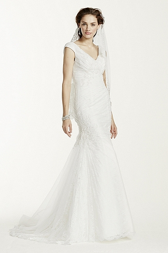 Off The Shoulder Trumpet Gown with Ruched Bodice MK3733