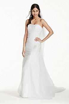 Tulle Over Lace Mermaid Wedding Dress MK3745