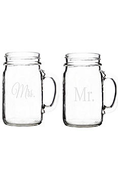 Mr.and Mrs. Old Fashioned Drinking Jars Set of 2 MM1190-2