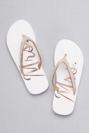 glitter mrs flip flops davids bridal