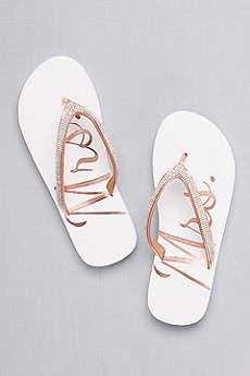 Glitter Mrs Flip Flops