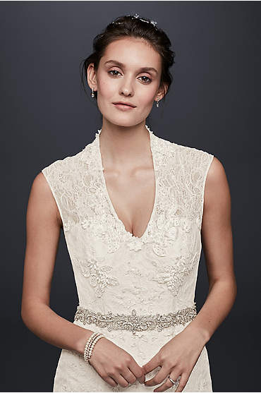 Petite Melissa Sweet Cap Sleeve Wedding Dress