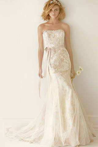As Is Lace Wedding Dress With Ruffle Train