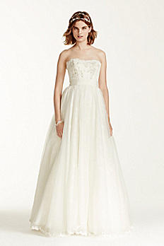 Melissa Sweet Wedding Dress with Floral Appliques MS251072