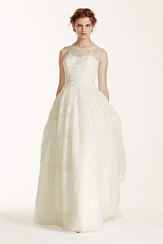Long Ballgown Romantic Wedding Dress - Melissa Sweet  sc 1 st  Davidu0027s Bridal : tent dresses plus size - memphite.com