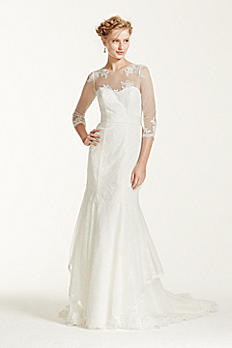 Melissa Sweet Wedding Dress with Illusion Sleeves MS251089
