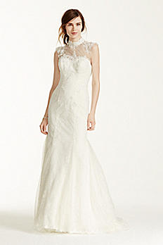 Melissa Sweet Wedding Dress with Illusion Neckline MS251092