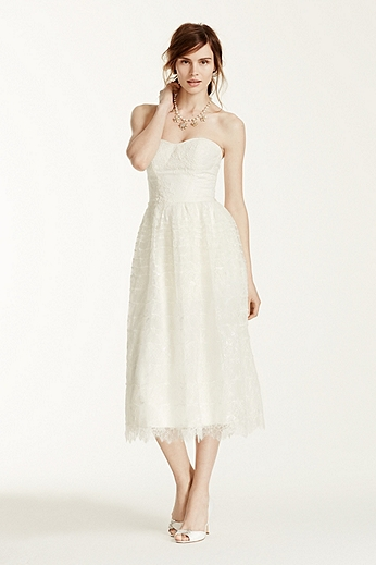 Lace Short Dress with Sweetheart Neckline MS251101