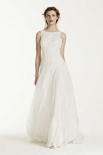 Lace Trumpet Gown with High Neckline MS251110