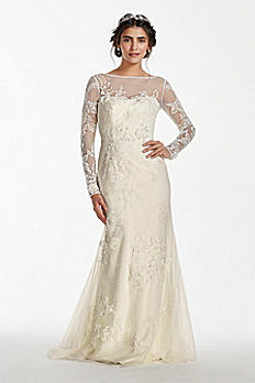 Melissa Sweet Long Sleeve V Back Wedding Dress 4XLMS251113