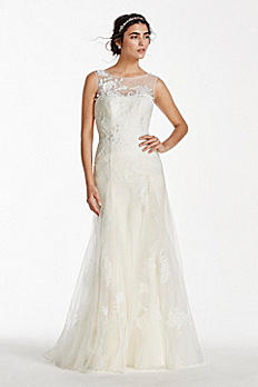 Melissa Sweet Tank Tulle Wedding Dress with Beads MS251114