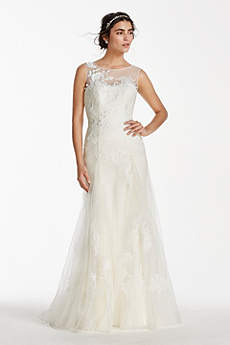 Melissa Sweet Tank Tulle Wedding Dress With Beads