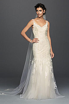 Melissa Sweet Illusion Lace Mermaid Wedding Dress MS251150