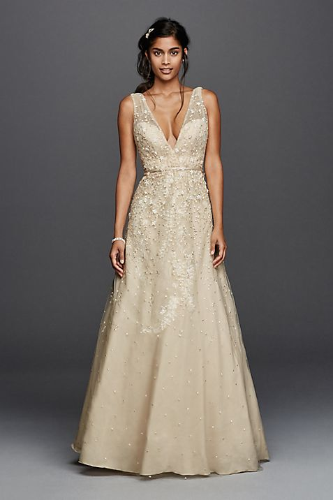 Champagne Colored Wedding Dresses & Gowns   David\'s Bridal