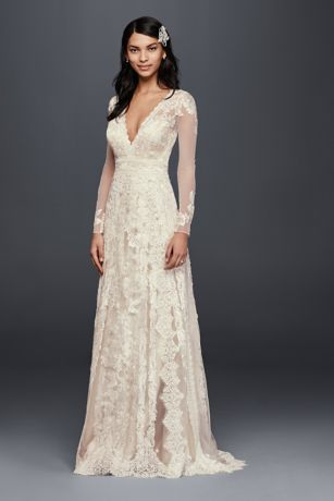 Melissa Sweet Linear Lace Wedding Dress | David's Bridal