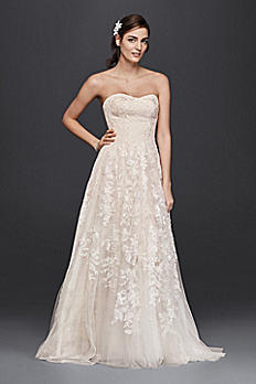 Melissa Sweet Petite Lace A-Line Wedding Dress 7MS251174