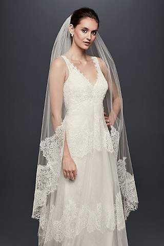 Eyelash Lace Edge Walking Veil