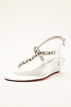 Myra  Dyeable Low Wedge Thong Sandal Myra