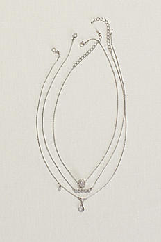 Layered Crystal Pave Necklaces N2249281