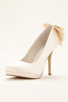 Menbur Ivory Pumps (Naia Platform Evening Pumps by Menbur)