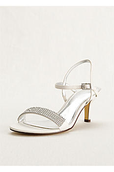 Touch of Nina Double Strap Sandal with Crystals NESSA