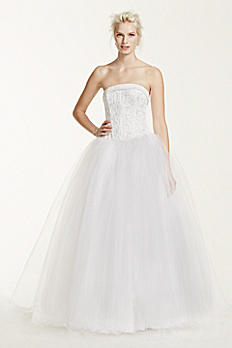 Tulle Wedding Dress with Corseted Satin Bodice NT8017