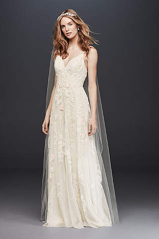 Country wedding dresses davids bridal long a line country wedding dress melissa sweet junglespirit Choice Image