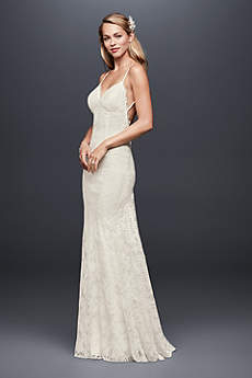 Long Sheath Beach Wedding Dress   GalinaSexy Backless Wedding Dresses   David s Bridal. Long Sleeve Backless Wedding Dresses. Home Design Ideas