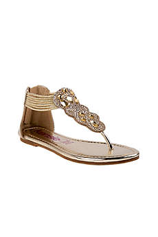 Grey Flowergirl Shoes (Girls Metallic Sandals with Crystals)