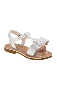 Laura Ashley Grey Flowergirl Shoes (Toddlers Bow Sandals)