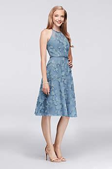 Soft & Flowy Oleg Cassini Short Bridesmaid Dress