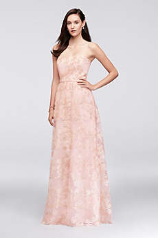 Long A-Line Strapless Dress - Oleg Cassini