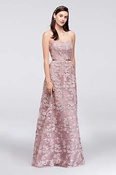 Soft & Flowy Oleg Cassini Long Bridesmaid Dress